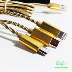 Кабель USB microUSB + iPhone 5  LDNIO ''3 in 1'', GOLD  LC85